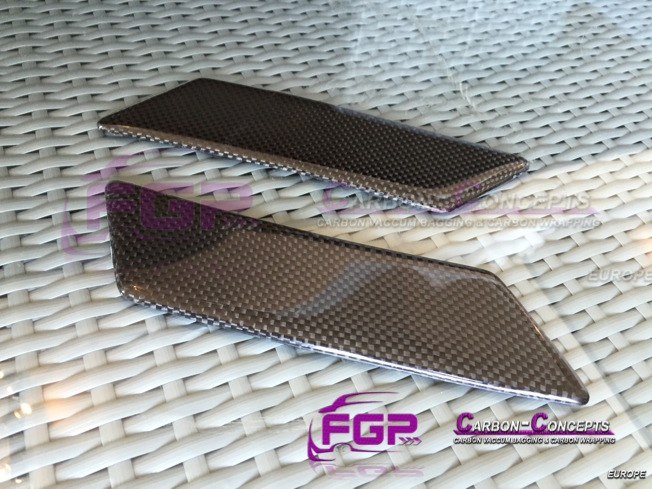 NEW Lamborghini Gallardo Carbon Headlight washer lids set ( cover )